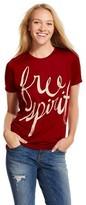 Mighty Fine Free Spirit Graphic Tee Burgundy (XL)