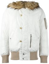 Diesel furred collar padded jacket