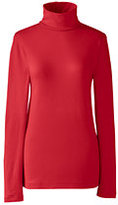 Lands' End Women's Shaped Layering Turtleneck-Wineberry