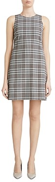 Theory Plaid Sleeveless Angled Dress