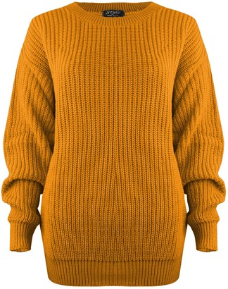 SA Fashions Oversized New Ladies Womens Chunky Baggy Jumper Knitted Sweater Thick Top S-XL 8-18 (LXL (16-18)