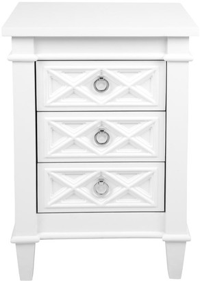 Cafe Lighting Noosa Bedside Table White Small