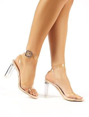 Public Desire Uk Talk Patent Perspex Block Heels