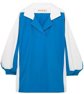 Marni Two-tone Cotton-poplin Shirt