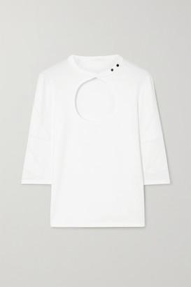 Chloé Cutout Cotton-jersey T-shirt - White