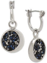Kenneth Cole New York Silver-Tone Blue Sprinkle Stone Drop Earrings