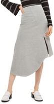 Topshop Women's Split Asymmetric Jersey Midi Skirt
