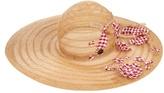 Maison Michel Lucia embellished straw hat