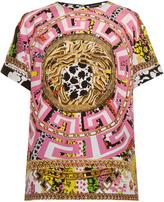 Versace Psychadelic-print silk-crepe blouse
