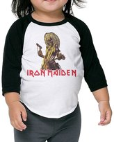Carina Shows Carina Children's Middle Sleeve Iron Maiden T Shirt Tops