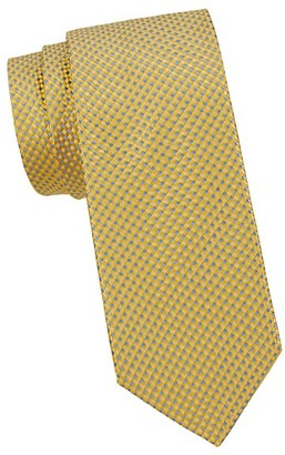 Saks Fifth Avenue Made In Italy Geometric Silk Tie