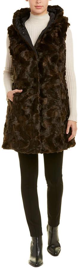 Via Spiga Funnel Neck Wool-Blend Coat