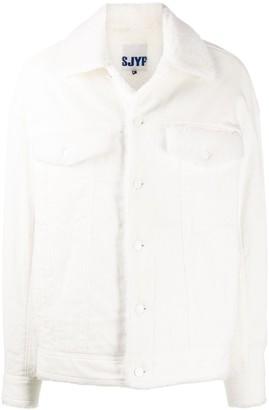 Sjyp Faux Shearling-Trimmed Corduroy Jacket
