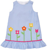 Florence Eiseman Sleeveless Floral Corduroy Sundress, Blue, Size 2T-6