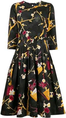 Samantha Sung silk abstract-print dress