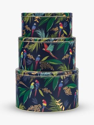Cake Sara Miller Parrot Round Tins, Set of 3, Navy