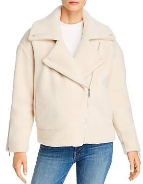 Rebecca Minkoff Brutus Moto-Style Wool Sherpa Jacket
