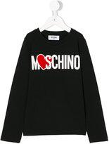 Moschino Kids heart logo top