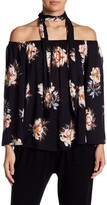 Luma Floral Off-the-Shoulder Scarf Top