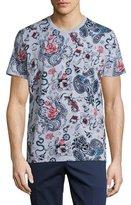 Etro Tattoo-Print T-Shirt, Multicolor