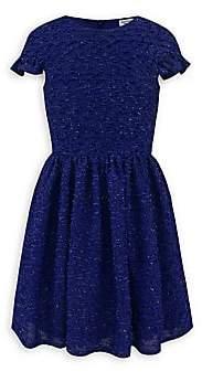 David Charles Girl's Royal Boucle Dress