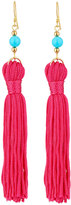 Kenneth Jay Lane Thread Tassel Earrings, PInk