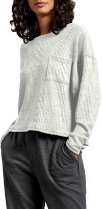Michael Stars Long Sleeve Brushed Thermal Knit Top