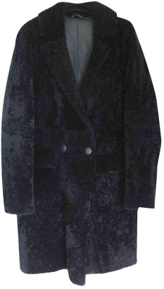 Anne Vest Navy Shearling Coats