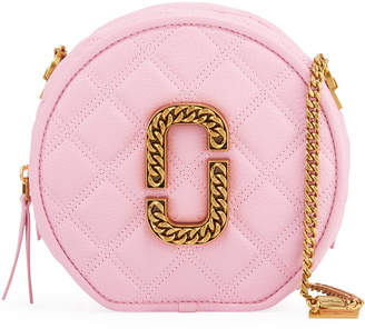 Marc Jacobs The Round Leather Crossbody Bag