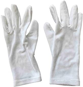Balenciaga White Velvet Gloves