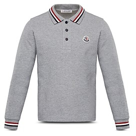 Moncler Unisex Cotton Long Sleeve Polo - Big Kid