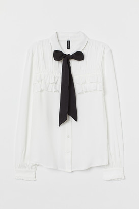 H&M Tie-collar Blouse
