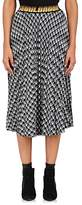 D-ANTIDOTE Women's Checked Cotton-Blend Flannel Midi-Skirt