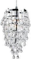 Eurofase 12260-010 Vidal 100-Watt 1-Light Chrome Pendant with Clear Crystals