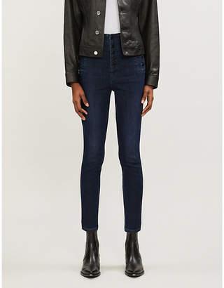 J Brand Natasha skinny super high-rise coated jeans