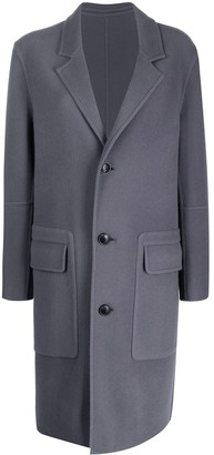 Ami Unstructured Single Breasted Coat