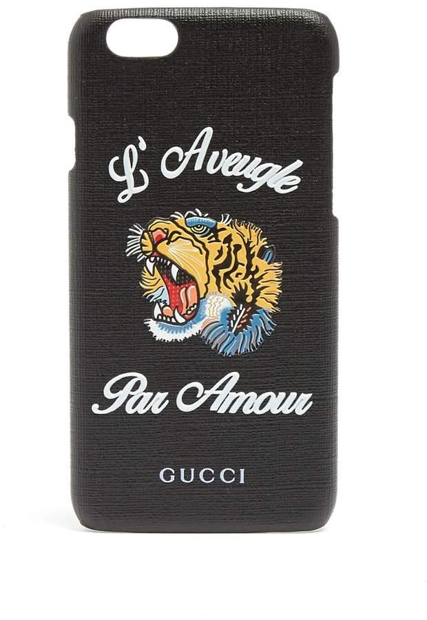 Gucci 'L'Aveugle Par Amour' leather iPhone® 6 case