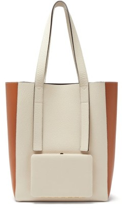 Lutz Morris Seveny Grained-leather Tote Bag - Cream Multi