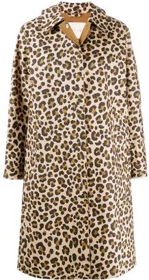 MACKINTOSH FAIRLIE Leopard Print Bonded Cotton Coat | LR-079