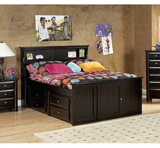 Harriet Bee Eldon Full Bed with Drawers and Bookcase Harriet Bee
