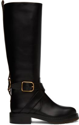 Chloé Black Tall Diane Boots