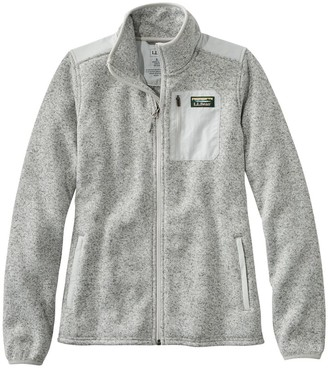 L.L. Bean Women's L.L.Bean Sweater Fleece Full-Zip Overlay Jacket