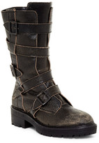 Kelsi Dagger Brooklyn Moore Genuine Shearling Detail Buckle-Up Boot