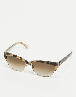 Kate Spade square sunglasses in tortoise shell