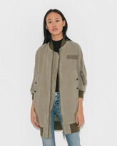 R 13 Hemp Long Flight Jacket