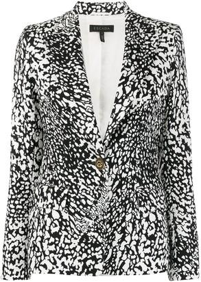 Escada single-breasted abstract-pattern blazer