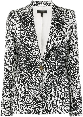 Escada Single-Breasted Abstract-Pattern Blazer