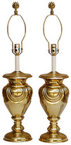 One Kings Lane Vintage Stiffel Art Deco Brass Table Lamps - Set of 2 - gold