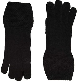 UGG Knit Bow Gloves with Tech Tips (Black) Extreme Cold Weather Gloves