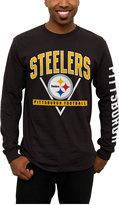 Junk Food Clothing Men's Pittsburgh Steelers Nickel Formation Long Sleeve T-Shirt